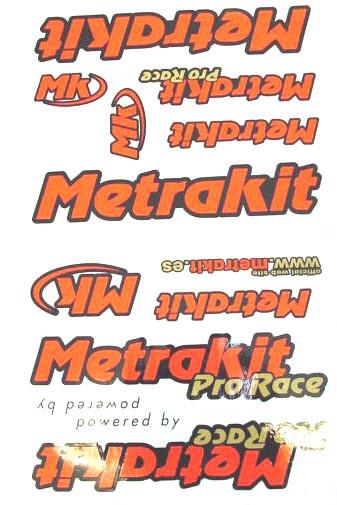 Stickerset Metrakit Rood/ zwart.