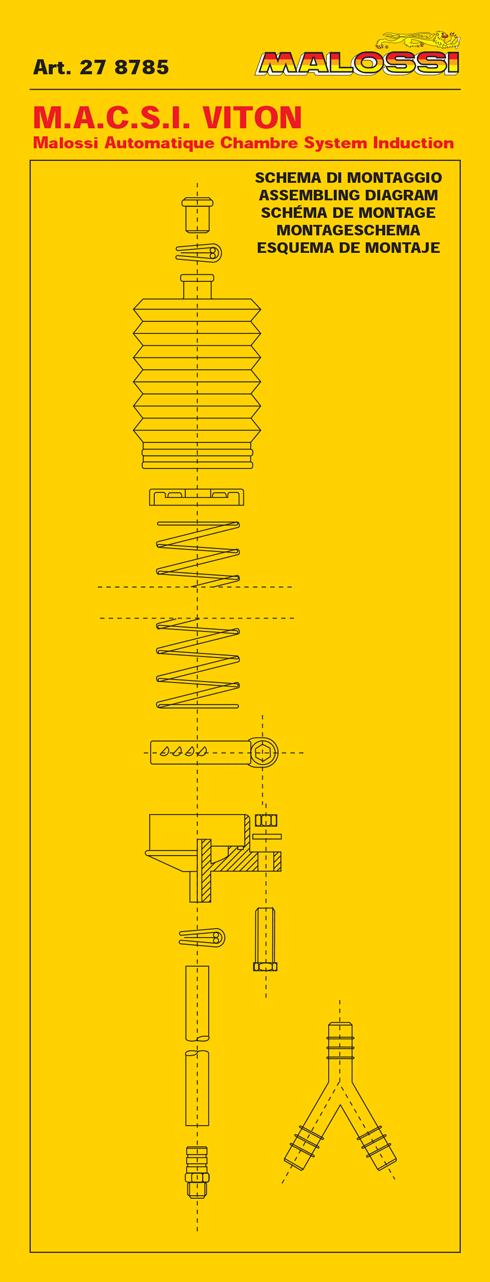 Gas Power Box MALOSSI MACSI Viton. Universeel voor Tomos