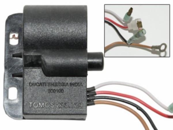 Bobine / CDI Tomos A35. Electronisch. 4 DRAADS. Origineel Tomos