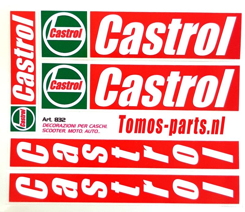 Stickerset Castrol 5 delig