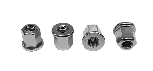 Naraku verhoogde cilinderkop moeren M7 Tomos 4 stuks