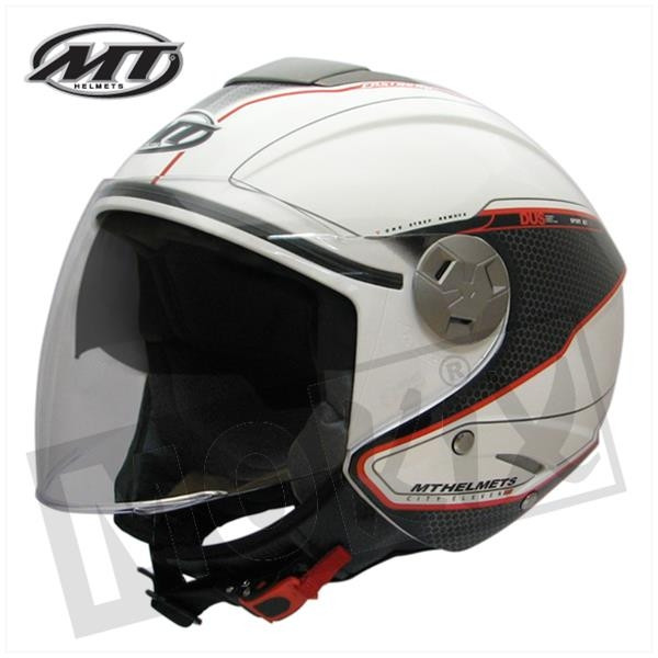 Helm MT City Eleven Wit/Rood