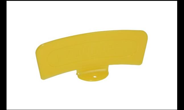 Spatbord plaatje vin oranje of geel op voet