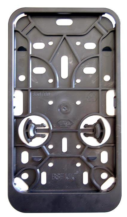 Kentekenplaat houder zwart vierkant of staand.