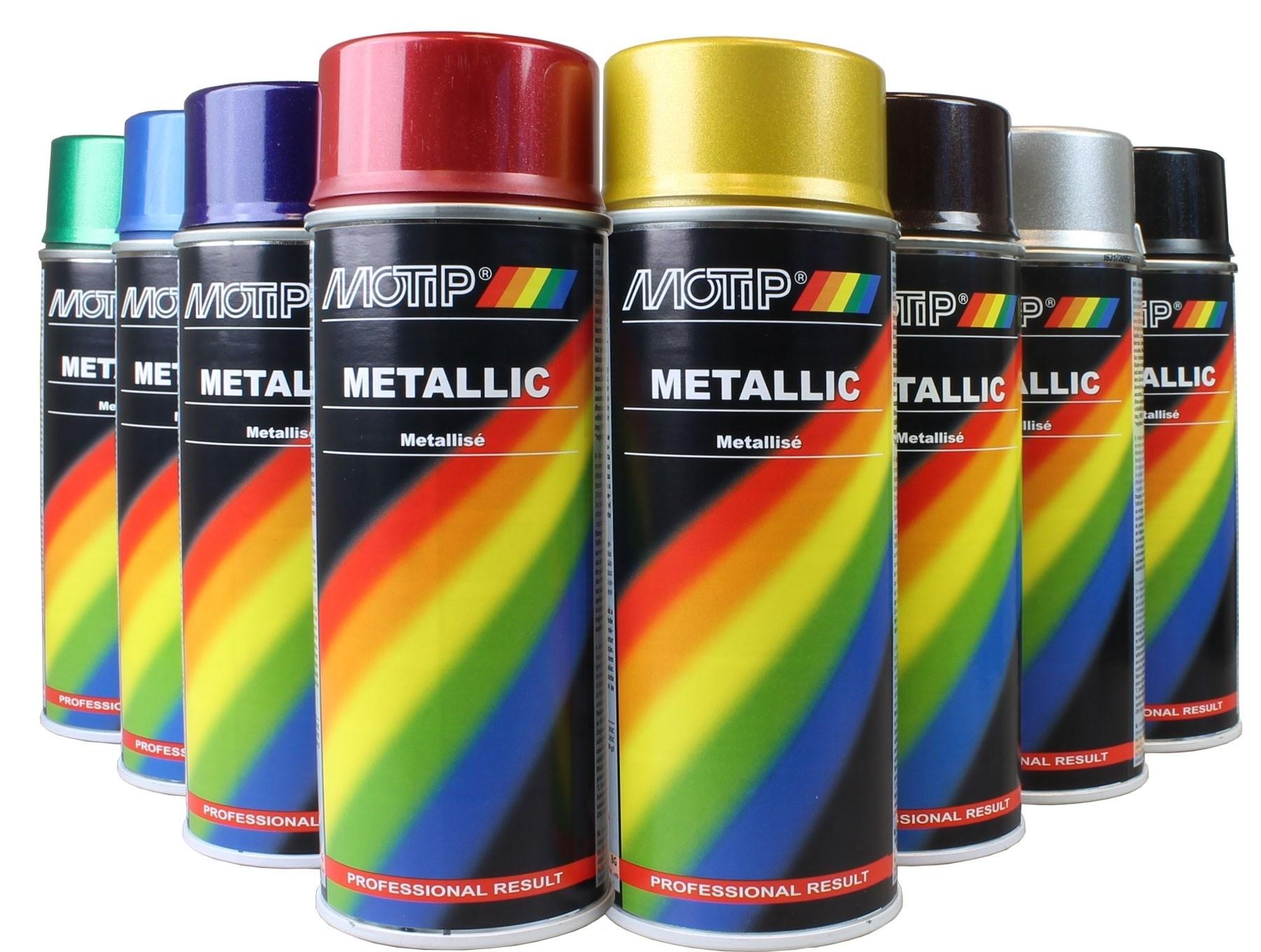 Spuitbus Motip metallic diverse kleuren.