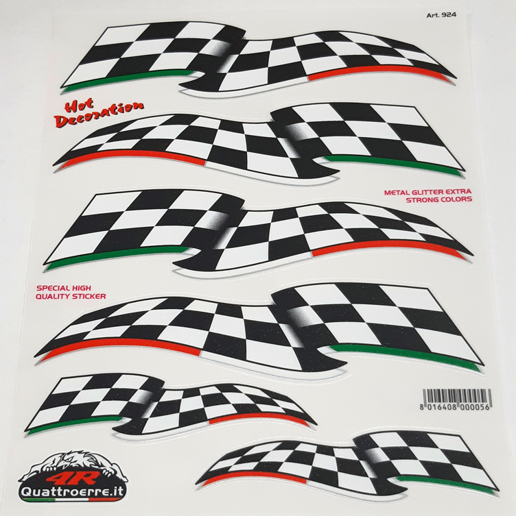 Quattroerre Finish vlag sticker set