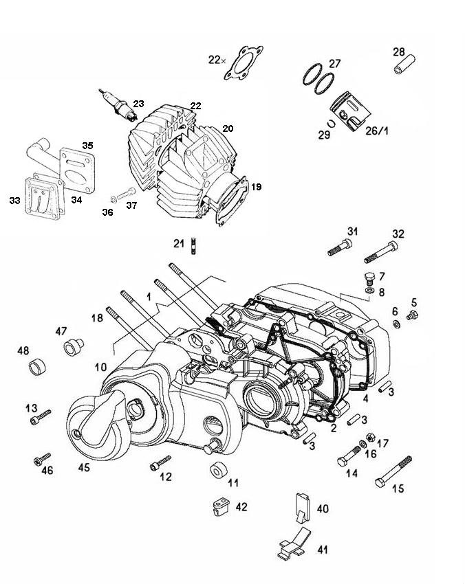 Tapeind ORIGINELE KWALITEIT / A35 cilinder.