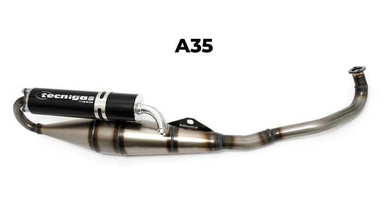 "Tecnigas 28mm Sportuitlaat ""NEXT R"" Tomos A35 Blank"
