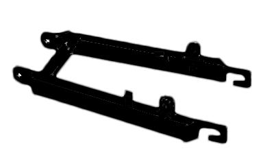 Achterbrug vierkant chroom of zwart Tomos A35.