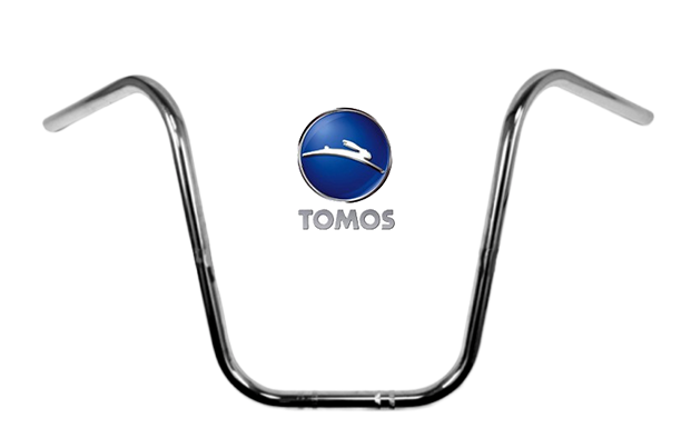 Stuur Tomos chopper Ape hanger chroom 38cm hoog