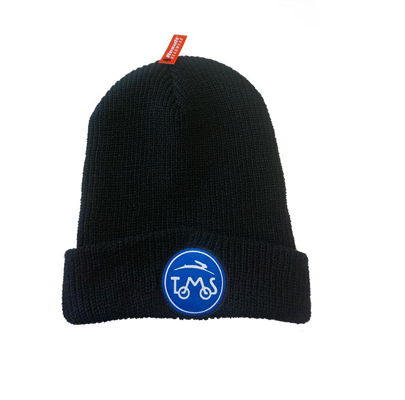 Muts zwart met luxe logo Tomos warm A-kwaliteit
