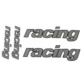 """Stickerset """"Racing' universeel. 4 delig"""