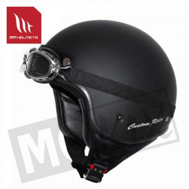 Helm custom rider zwart kids