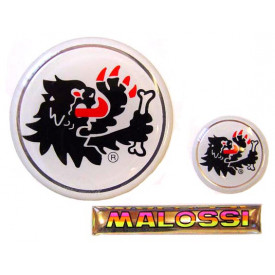 Stickerset Malossi 3D. 3 Delig.