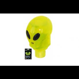 Ventieldop set 2x alien groen met led inclusief batterijen