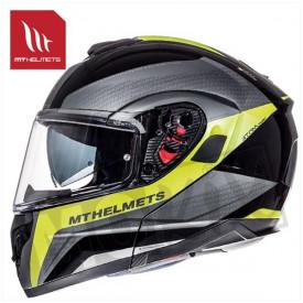 Helm MT Atom Tarmac SV Zwart/Fluor Geel