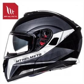 Helm MT Atom Tarmac SV Zwart/Wit
