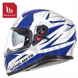 Helm MT Thunder 3 Sv Effect Wit/Blauw