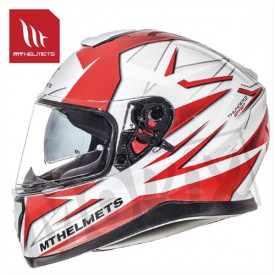 Helm MT Thunder 3 Sv Effect Wit/Rood