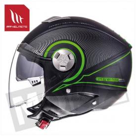 Helm MT Tron Zwart/Groen