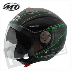 Helm MT City Eleven Zwart Groen