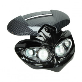 Koplamp custom Dubbel Carbon