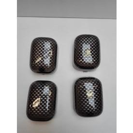 Knipperlichtglas set Tomos carbon Oud type inclusief 4 oranje lampjes