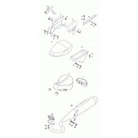 Zijscherm / Zijkap Tomos Flexer / Funtastic / Pack'R / Youngst'R / Revival en Roadie - Rechts of Links