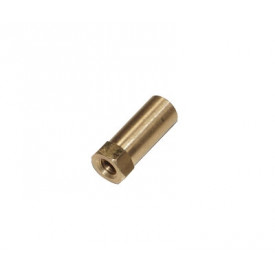 Messing moer m6 extra hoog 25mm (uitlaat).