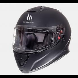 Helm MT Thunder 3 Solid Mat zwart. Diverse maten.