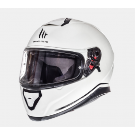 Helm MT Thunder 3 Solid Wit. Diverse maten.