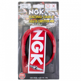 NGK Bougie dop NGK Racing Siliconen kabel CR4 rood. A-kwaliteit