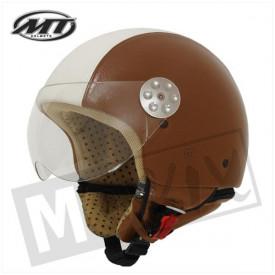 Helm MT Retro Leer Bruin/Beige kids