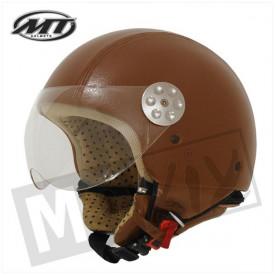 Helm MT Retro Leer bruin kids
