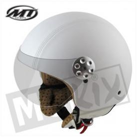Helm MT Retro leer Wit