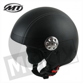 Helm MT retro Leer zwart