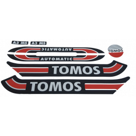 Stickerset tank Tomos standard A3 A35 S25 / Retro