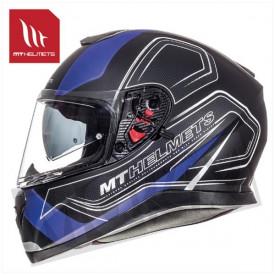 Helm MT Thunder 3 Sv Trace Zwart/Blauw