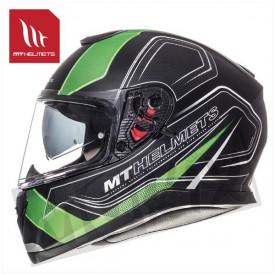 Helm MT Thunder 3 Sv Trace Zwart/Groen