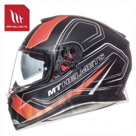 Helm MT Thunder 3 Sv Trace Zwart/Oranje