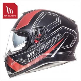 Helm MT Thunder 3 Sv Trace Zwart/Rood