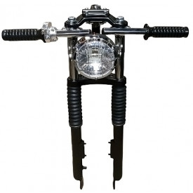 Cafe Racer Clipons stuur chrome universeel voor Tomos
