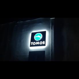 Origineel Tomos LED reclame bord.