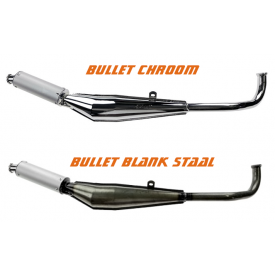 Uitlaat Bullet chroom of blank staal Tomos A3/A35