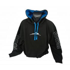 Tomos Hoodie zwart of blauw maat XL