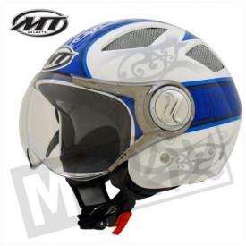 Helm MT Urban Blauw/Wit Promo