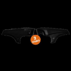 Zijscherm set Tomos A35 Glans zwart. (2 stuks)