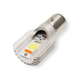 Power LED lamp . 35/35W 12V Ba20d fitting voor originele koplamp