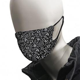 Mondmasker 2 stuks uitwasbaar zwart / grijs Tucano 662