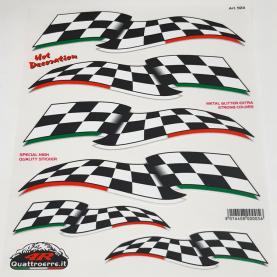 Quattroerre Finish vlag sticker set